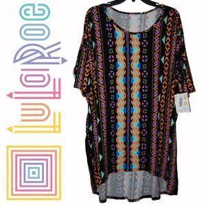 Lularoe – Irma Colorful Abstract Tribal Dress Top